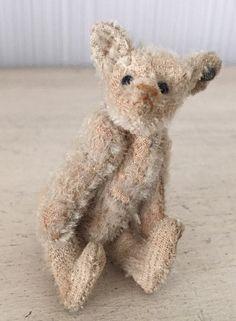 Antique Steiff Mohair Teddy Bear Hump Hunchback Jointed Miniature Button | eBay