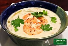 Sautéed Shrimp and Asparagus Soup Recipe... You can't imagine how tasty this colorful soup is. This is a beautiful combination of a chowder and a vegetable soup - perfect for your next dinner party.