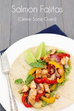 This delicious salmon fajitas recipe is a quick, healthy meal packed with delicious flavor that everyone will love!