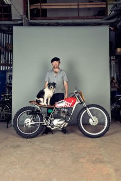 Man & His Dog & his BIKE!!