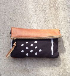 Leather and Prints Mini Bag on Etsy, $25.00