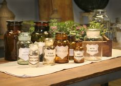 apothecary jars from europe | by carrie leber