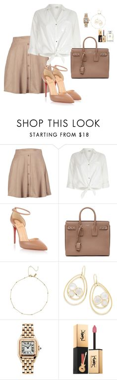 """""""Senza titolo #82"""" by bettydeb on Polyvore featuring moda, Boohoo, River Island, Christian Louboutin, Yves Saint Laurent, Ippolita, Cartier e Chanel"""