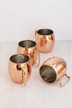 Copper Moscow Mule mugs: http://www.stylemepretty.com/living/2015/02/20/25-ways-to-add-copper/
