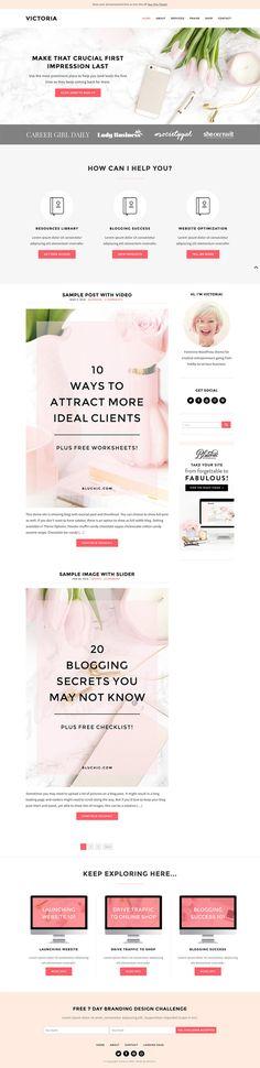 Victoria - Blog & eCommerce Theme by Bluchic Wordpress website theme @creativemarket