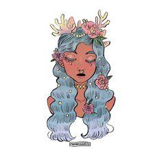c o r a l r e e f ••• #illustration #art #drawing #doodles #girl
