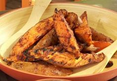 Grilled Sweet Potato Wedges Recipe