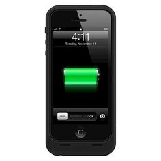 iPhone 5/5S/SE Case - Mophie Juice Pack Air 1700mAh – Black