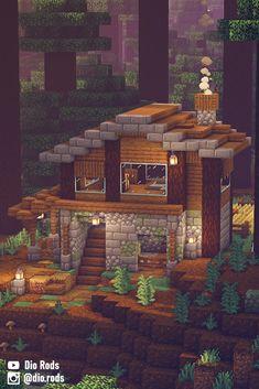 Plans Minecraft, Minecraft Houses Survival, Cute Minecraft Houses, Minecraft House Tutorials, Minecraft Room, Minecraft House Designs, Amazing Minecraft, Minecraft Tutorial, Minecraft Blueprints