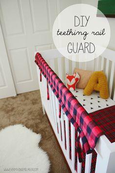 Everything Emily: DIY Teething Crib Rail Guard. No sew option. Everything Emily: DIY Teething Crib R Crib Rail Guard, Crib Rail Cover, Crib Teething Guard, Baby Crib Diy, Baby Boy, Sew Baby, Young Living, Diy Bebe, Baby Sewing Projects