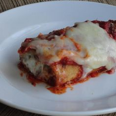 This is a great recipe for eggplant lovers!! Alternatively, veal, chicken, or fish may be used in place of the eggplant.