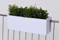 Balkonkasten selbsthängend weiß
