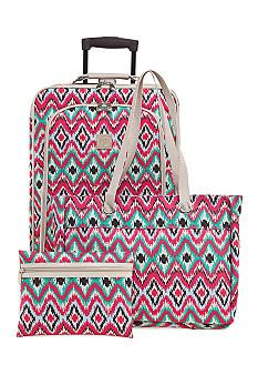New Directions® 3-Piece Ikat Print Luggage Set