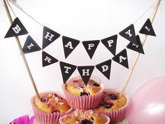 Kuchen-Girlande Geburtstag: Bastelbogen von Inselmädchen Party-Shop auf DaWanda.com