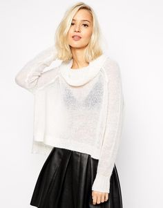 Image 1 of River Island Cowl Neck Crop Jumper