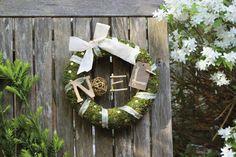 Fiche créative : Couronne de Noël nature