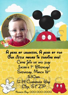 DIY Printable Mickey Mouse Clubhouse Birthday by EllieBlueDesigns, $14.00