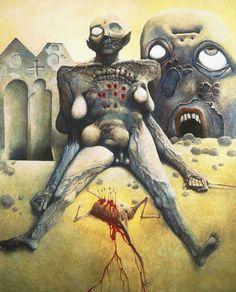 Zdzislaw Beksinski Gallery: Beksiński Paintings of 1971