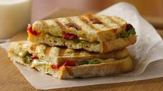 Hot off the grill in 15 minutes, these Italian sandwiches require just six ingredients and make a great lunch or supper.