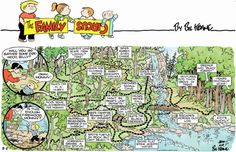 August 2012 - Billy's meanderings on a family camping trip.  I love these!!  Captures all of the creative imaginations in a child's mind, and why they so easily get distracted!  :)  by Bill Keane