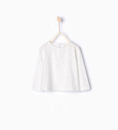 Image 1 de T-shirt en coton organique plumetis de Zara taille 3-6 mois