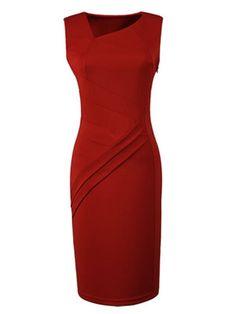 Elegant Slash Neck Blended  Bodycon-dress Bodycon Dress from fashionmia.com