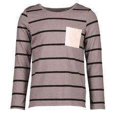 The Girls' Yarn Dye Pocket Tee. Young Original - Inspiring growing Kiwi Kids, every step of the way. Fast Fashion, Slow Fashion, Capsule Wardrobe, Kids Outfits, Pocket, The Originals, Sweatshirts, Tees, Long Sleeve
