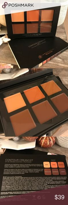 NWT CONTOUR CREAM KIT ANASTASIA Beverly Hills DEEP COLORS ( nude coral cinnamon chocolate espresso carob) l never used is not my color  Anastasia Beverly Hills Makeup