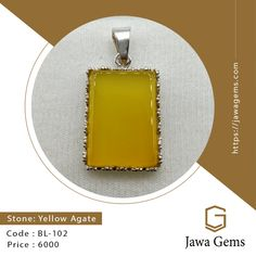 Yellow Agate Pendant BL 102 ₨ 6,000 For more details whatsapp on 03159477284 Free delivery all over Pakistan Yellow Sapphire stone unites lovers who are separated. The wearer of yellow sapphire gets the knowledge of the law, ethics, wit, wisdom, worldly happiness, physical power, cleverness, long life, good health #JawaGems #Jawa #YellowSapphire #YellowSapphirering #YellowSapphirebracelet #YellowSapphirependent #YellowSapphireearring #Stone #FemaleRing #Ruby #Feroza #Opal #BuyOnline…