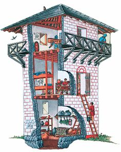 Innenansicht Limes-Turm