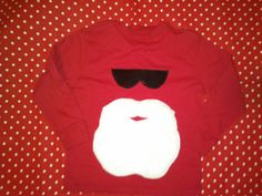 Could we do this Santa shirt with HTV when we do the pjs?