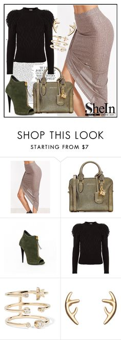 """Shein Skirt"" by anemone-ci ❤ liked on Polyvore featuring Alexander McQueen, Temperley London and Andrea Fohrman"