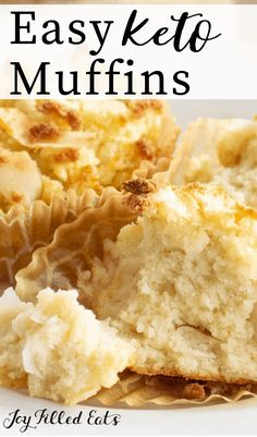 Coconut Flour Muffins are a delectable way to start the day! They are flavorful, simple to make, and are perfect when you are heading out the door and need a quick breakfast idea. Coconut Flour Biscuits, Coconut Flour Muffins, Keto Biscuits, Keto Pancakes, Coconut Flour Cakes, Low Carb Desserts, Low Carb Recipes, Healthy Recipes, Coconut Flour Recipes Low Carb