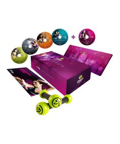 Who says that working toward a toned and healthy physique can't be a party? Complete with five instructional DVDs and a pair of Zumba®toning sticks, this set will energize every workout with red-hot dance steps, pulsing Latin rhythms and easy-to-follow fitness routines.Step by Stepprovides a basic guide to break down the Zumba®steps, while Activate, Ripped: Zumba Toning, Mix and Exhilarate showcase a selection of workouts at differe...