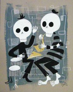 Danse Macabre (Beatnik version?) reminds me of Tim Burton's art