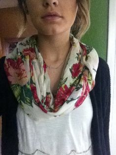 Floral scarf, I like the colors