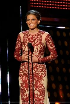 #StanaKatic on stage at the 2014 People's Choice Awards.