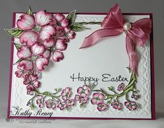 Flowering Dogwood Collection Easter card using Heartfelt Creations by Kathy Roney - Joyfully Made Designs