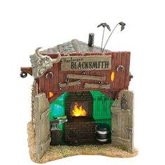 Hackmanns Blacksmith Shop, Lighted Houses, Halloween Village, Christmas Villages, Department 56, Department 56 Lighted Houses, Department 56 Accessories, Dept 56, Dept. 56, 56.