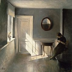 Peter Vilhelm Ilsted, Girl Reading a Letter in an Interior, 1908.
