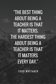 This is so true. While sometimes we feel dragged under by admin and bureaucracy, what we do is essential, important and matters every damn day.