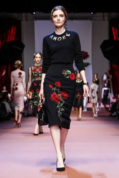 Dolce  & Gabbana Ready To Wear Fall Winter 2015 Milan Fashion Week