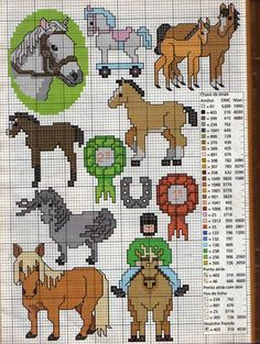Sticken Pferde - cross stitch horses - free pattern Schema punto croce Altri Tanti Cavalli