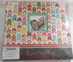 K&company Scrapbooking Album Patterned Arrows Front Cover Photo Insert Scrapbook Scrapbooking Album Patterned Arrows Front has an opening to Personalize the Album with your Favorite Picute 10 top Loading page Protectors Photo Safe 12 x 12 inches pages