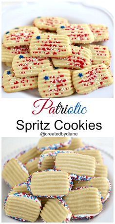 Patriotic SPritz Cookies from @createdbydiane