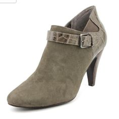 """Alfani Suede Ankle Booties Shoe in an excellent condition. Only worn once. Heel 3 1/2"""". Color warm-grey. Upper suede. Alfani Shoes Ankle Boots & Booties"""