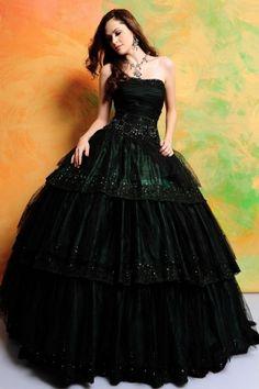 Harry Potter Prom: Hogwarts House Dresses Slytherin -- Love them all: http://www.davonnajuroe.com/harry-potter-prom-hogwarts-house-gowns/