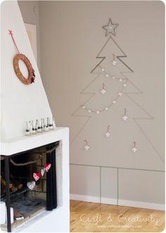 Washi Tape Christmas Tree  via Craft and Creativity