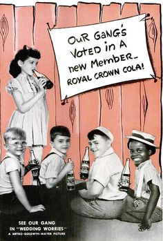 Little Rascals / Our Gang in vintage RC Cola ad