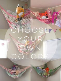 Crochet Stuffed Animal Hammock // Pick Your Own by TogetherInLove